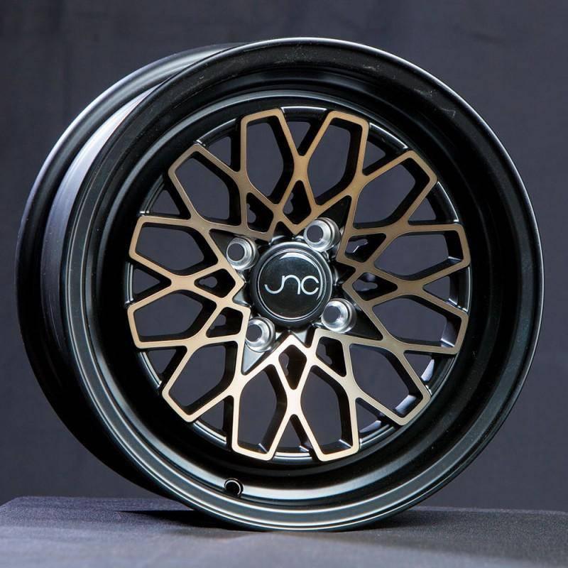 JNC Wheels Rim JNC040 Matte Black Bronze Face 15x8 4x100 ET25