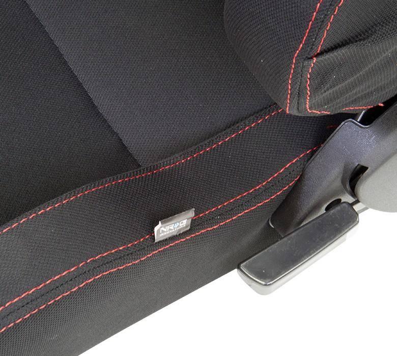 Motorcycle Wheel Logo: NRG Innovations Type-R Cloth Sport Seat Black W/ Red