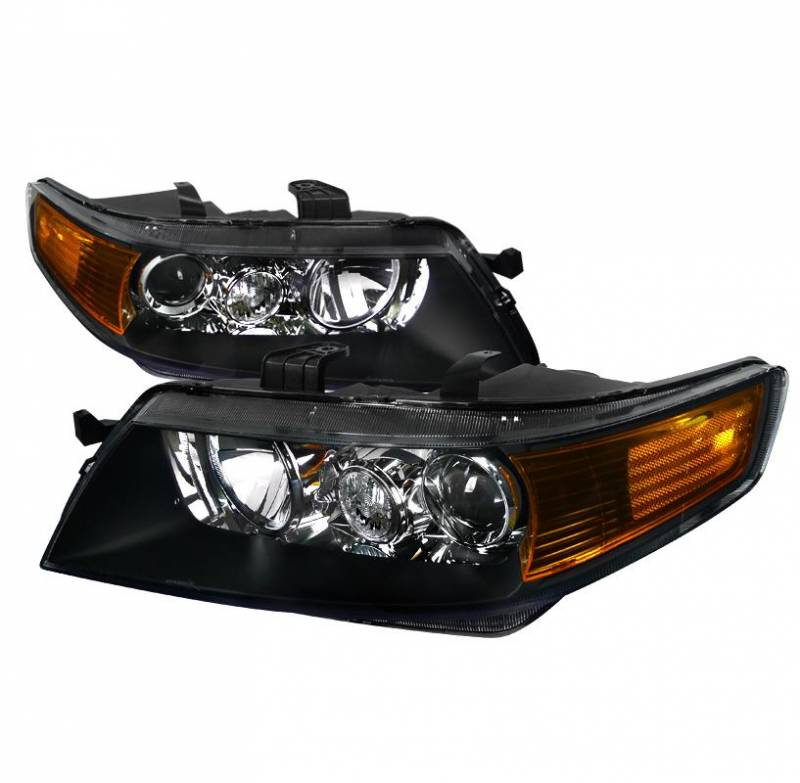 Spec-D Tuning 2004-2005 Acura TSX Black Projector Headlights
