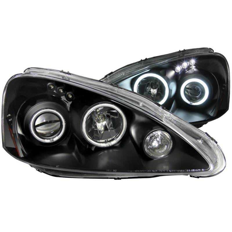 ANZO 2005-2006 Acura Rsx Projector Headlights W/ Halo Black