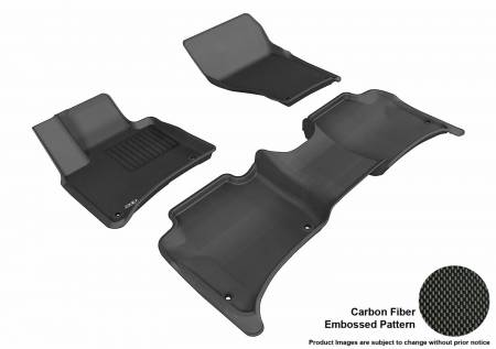 3D MAXpider (U-Ace) - 3D MAXpider FLOOR MATS PORSCHE CAYENNE 2011-2018 KAGU BLACK R1 R2