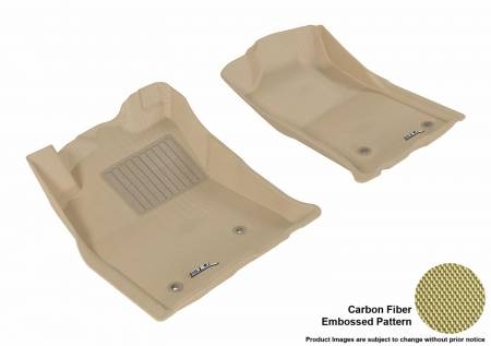 3D MAXpider (U-Ace) - 3D MAXpider FLOOR MATS TOYOTA TACOMA REGULAR CAB/ ACCESS CAB/ DOUBLE CAB 2005-2011 KAGU TAN R1