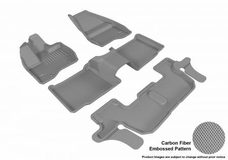 3D MAXpider (U-Ace) - 3D MAXpider FLOOR MATS FORD EXPLORER WITH 2ND ROW CENTER CONSOLE 2011-2014 KAGU GRAY R1 R2 R3