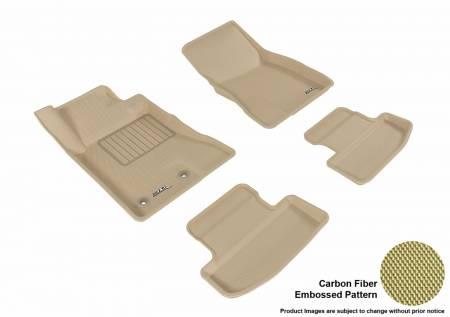 3D MAXpider (U-Ace) - 3D MAXpider FLOOR MATS FORD MUSTANG 2015-2019 KAGU TAN R1 R2 (2 EYELETS)