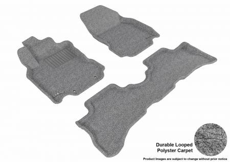 3D MAXpider (U-Ace) - 3D MAXpider FLOOR MATS NISSAN CUBE 2009-2014 CLASSIC GRAY R1 R2