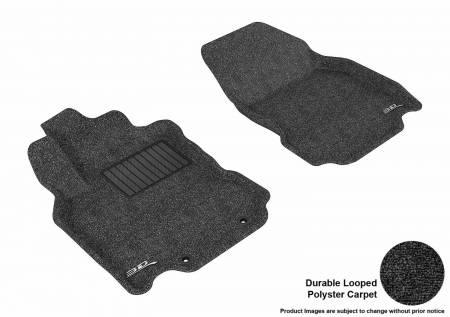 3D MAXpider (U-Ace) - 3D MAXpider FLOOR MATS NISSAN CUBE 2009-2014 CLASSIC BLACK R1