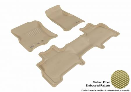 3D MAXpider (U-Ace) - 3D MAXpider FLOOR MATS FORD EXPEDITION WITH 2ND ROW CENTER CONSOLE 2011-2017 KAGU TAN R1 R2