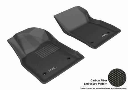 3D MAXpider (U-Ace) - 3D MAXpider FLOOR MATS BUICK VERANO 2012-2017 KAGU BLACK R1