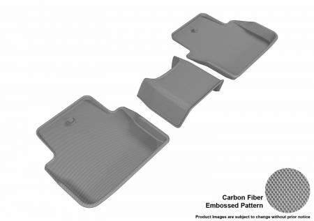 3D MAXpider (U-Ace) - 3D MAXpider FLOOR MATS ACURA TLX 2015-2019 KAGU GRAY R2 (3PCS)