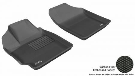 3D MAXpider (U-Ace) - 3D MAXpider FLOOR MATS TOYOTA YARIS 2007-2011/ SCION XD 2008-2012 KAGU BLACK R1