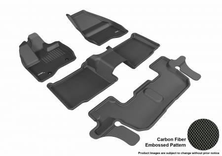 3D MAXpider (U-Ace) - 3D MAXpider FLOOR MATS FORD EXPLORER WITH 2ND ROW CENTER CONSOLE 2011-2014 KAGU BLACK R1 R2 R3