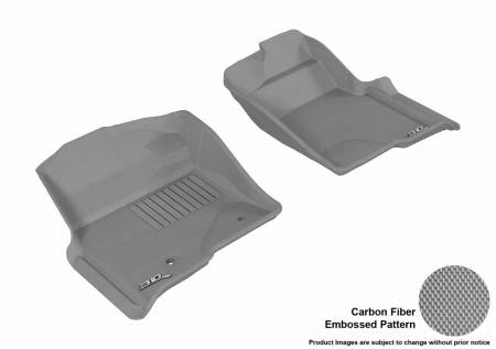 3D MAXpider (U-Ace) - 3D MAXpider FLOOR MATS FORD F-150 2010-2014 REGULAR/ SUPERCAB/ SUPERCREW KAGU GRAY R1 (2 POSTS, WITH HEATING DUCT, NOT FIT 4X4 M/T FLOOR SHIFTER)