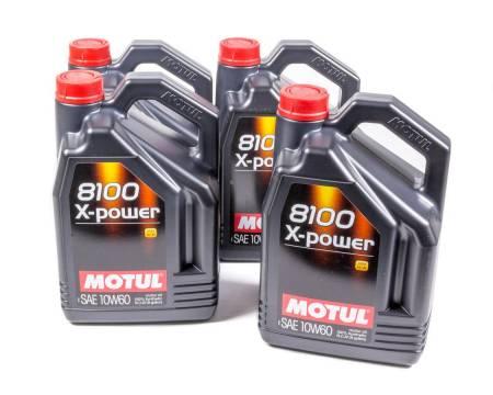 Motul - Motul Motor Oil - 8100 X-Power - 10W60 - Synthetic - 5 L - Set of 4