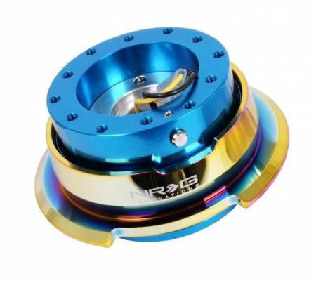 NRG Innovations - NRG Innovations Quick Release Gen 2.8 - Blue Body/Neo Chrome Ring