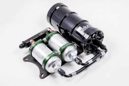 Radium Engineering - Radium Engineering Dual External Bosch 044 Horizontal Fuel Surge Tank (Pumps Not Incl)