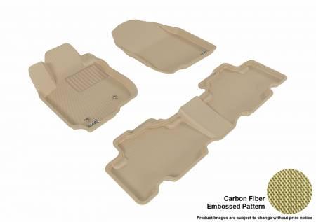 3D MAXpider (U-Ace) - 3D MAXpider FLOOR MATS TOYOTA RAV4 2006-2012 KAGU TAN R1 R2