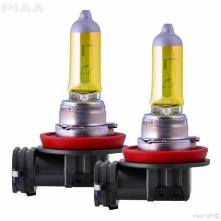 PIAA - PIAA H11 Solar Yellow Twin Pack Halogen Bulbs