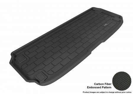 3D MAXpider (U-Ace) - 3D MAXpider NISSAN PATHFINDER 2013-2019 KAGU BLACK BEHIND 3RD ROW CARGO LINER