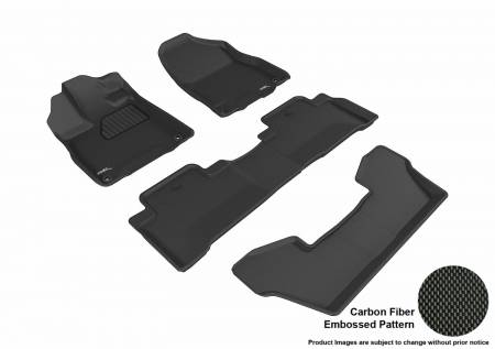 3D MAXpider (U-Ace) - 3D MAXpider FLOOR MATS ACURA MDX WITH BUCKET 2ND ROW 2017-2019 KAGU BLACK R1 R2 R3