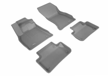 3D MAXpider (U-Ace) - 3D MAXpider FLOOR MATS AUDI Q5 2018-2019 KAGU GRAY R1 R2