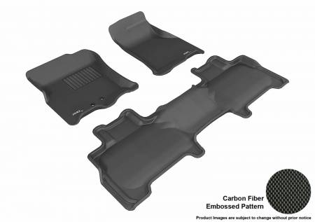 3D MAXpider (U-Ace) - 3D MAXpider FLOOR MATS FORD EXPEDITION WITH 2ND ROW CENTER CONSOLE 2011-2017 KAGU BLACK R1 R2