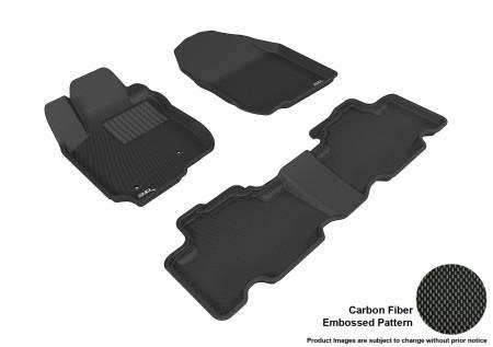 3D MAXpider (U-Ace) - 3D MAXpider FLOOR MATS TOYOTA RAV4 2006-2012 KAGU BLACK R1 R2