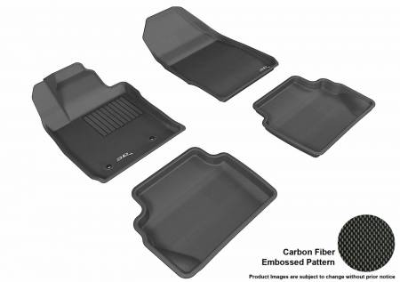 3D MAXpider (U-Ace) - 3D MAXpider FLOOR MATS FORD FIESTA 2011-2019 KAGU BLACK R1 R2