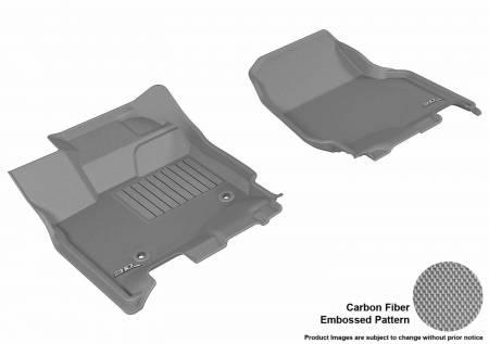 3D MAXpider (U-Ace) - 3D MAXpider FLOOR MATS FORD F-150 2015-2019 SUPERCREW KAGU GRAY R1 (2 EYELETS, NOT FIT 4X4 M/T FLOOR SHIFTERS)