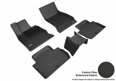 3D MAXpider (U-Ace) - 3D MAXpider FLOOR MATS KIA STINGER RWD 2018-2019 KAGU BLACK R1 R2