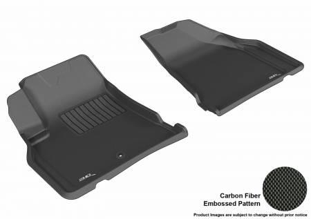 3D MAXpider (U-Ace) - 3D MAXpider FLOOR MATS BUICK ENCLAVE 2008-2017/ CHEVROLET TRAVERSE 2009-2017/ GMC ACADIA 2007-2016/ GMC ACADIA LIMITED 2017 KAGU BLACK R1