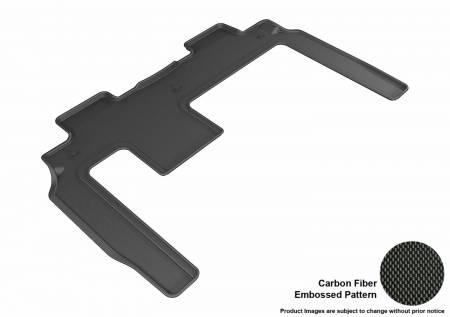 3D MAXpider (U-Ace) - 3D MAXpider FLOOR MATS BUICK ENCLAVE 2008-2017/ CHEVROLET TRAVERSE 2009-2017/ GMC ACADIA 2007-2016/ GMC ACADIA LIMITED 2017 KAGU BLACK R2 BENCH SEAT