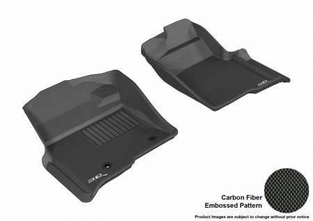 3D MAXpider (U-Ace) - 3D MAXpider FLOOR MATS FORD F-150 2010-2014 REGULAR/ SUPERCAB/ SUPERCREW KAGU BLACK R1 (2 POSTS, WITH HEATING DUCT, NOT FIT 4X4 M/T FLOOR SHIFTER)