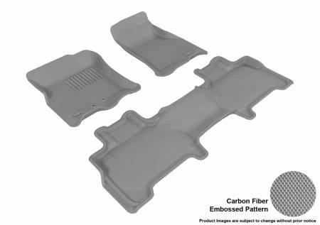 3D MAXpider (U-Ace) - 3D MAXpider FLOOR MATS FORD EXPEDITION WITH 2ND ROW CENTER CONSOLE 2011-2017 KAGU GRAY R1 R2