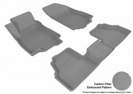 3D MAXpider (U-Ace) - 3D MAXpider FLOOR MATS BUICK ENCORE 2013-2019 KAGU GRAY R1 R2