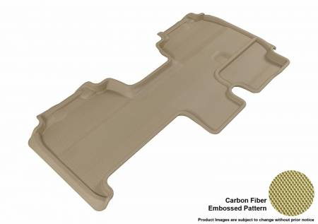 3D MAXpider (U-Ace) - 3D MAXpider FLOOR MATS FORD F-150 2009-2014 SUPERCAB KAGU TAN R2 (TRIM TO FIT SUBWOOFER)