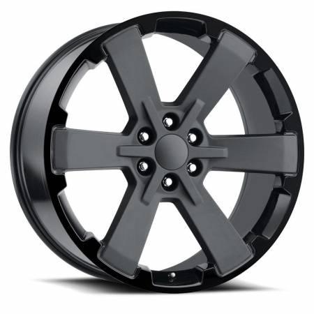 Factory Reproductions Wheels - FR Series 45 Replica 6 Star Wheel 24X10 6X5.5 ET30 78.1CB Two Tone Satin/Gloss Black