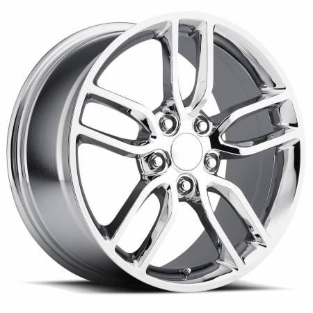 Factory Reproductions Wheels - FR Series 26 Replica C7 Corvette Wheel 19X10 5X4.75 ET79 70.3CB Chrome