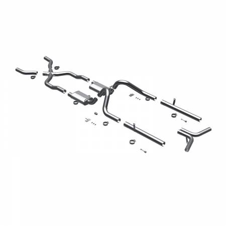 MagnaFlow Exhaust Products - MagnaFlow System Cat Back Exhaust 55-57 Chevy Bel Air V8 3inch