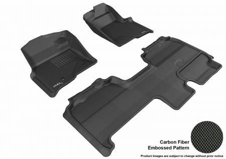 3D MAXpider (U-Ace) - 3D MAXpider FLOOR MATS FORD F-150 2010-2014 SUPERCAB KAGU BLACK R1 R2 (2 POSTS, WITH HEATING DUCT, NOT FIT 4X4 M/T FLOOR SHIFTER, TRIM TO FIT SUBWOOFER)