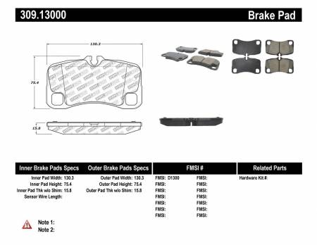 StopTech - StopTech Performance Brake Pads