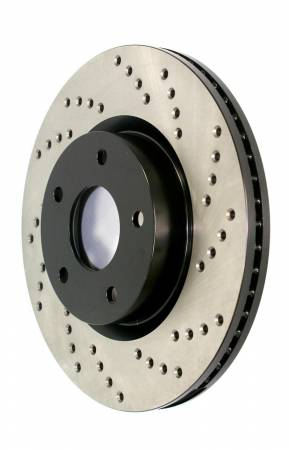 StopTech - StopTech 06-08 Cadillac XLR-V SC / 05-09 Corvette (Z51) Front Left Drilled Rotor