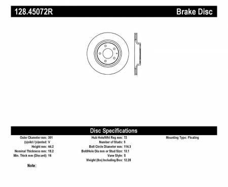 StopTech - StopTech Drilled Sport Brake Rotor
