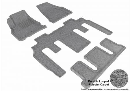 3D MAXpider (U-Ace) - 3D MAXpider FLOOR MATS CHEVROLET TRAVERSE WITH BUCKET 2ND ROW 2009-2017 CLASSIC GRAY R1 R2 R3