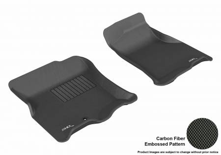 3D MAXpider (U-Ace) - 3D MAXpider FLOOR MATS FORD EXPEDITION 2007-2010/ LINCOLN NAVIGATOR 2007-2010 KAGU BLACK R1