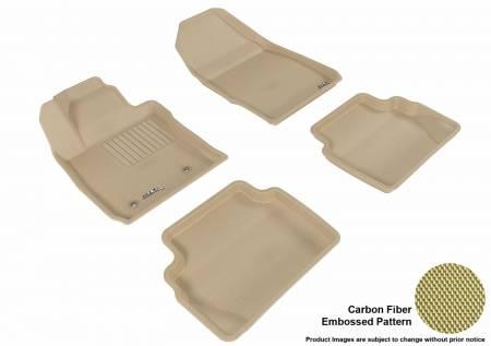 3D MAXpider (U-Ace) - 3D MAXpider FLOOR MATS FORD FIESTA 2011-2019 KAGU TAN R1 R2