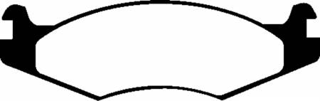 EBC Brakes - EBC 92-03 Am General H1 Yellowstuff Front Brake Pads