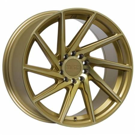 F1R Wheels - F1R Wheels Rim F29 18x8.5 5x112/114.3 ET45 Machined Gold