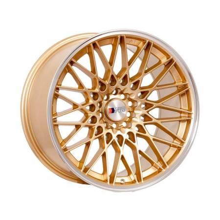 F1R Wheels - F1R Wheels Rim F23 18x10.5 5x100/114.3 ET40 Gold/Polish Lip