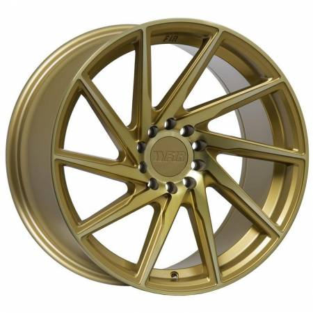 F1R Wheels - F1R Wheels Rim F29 18x9.5 5x114.3/120 ET38 Machined Gold