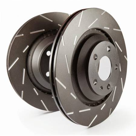 EBC Brakes - EBC 01-06 Hyundai Santa Fe 2.4 USR Slotted Rear Rotors